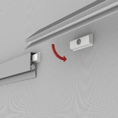 Clip Rail Wall Mounted 50 Cm Silver