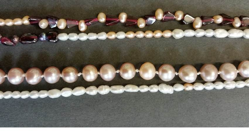 Pearl Garnet Necklace